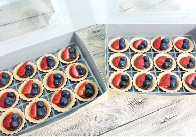 blueberrystrawb tart
